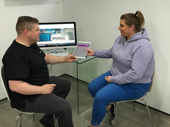 Katies mole removal consultation with Dr Kieron McDaid